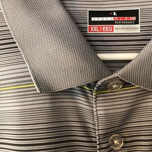 NEW Grand Slam Performance XXL Striped Golf Polo